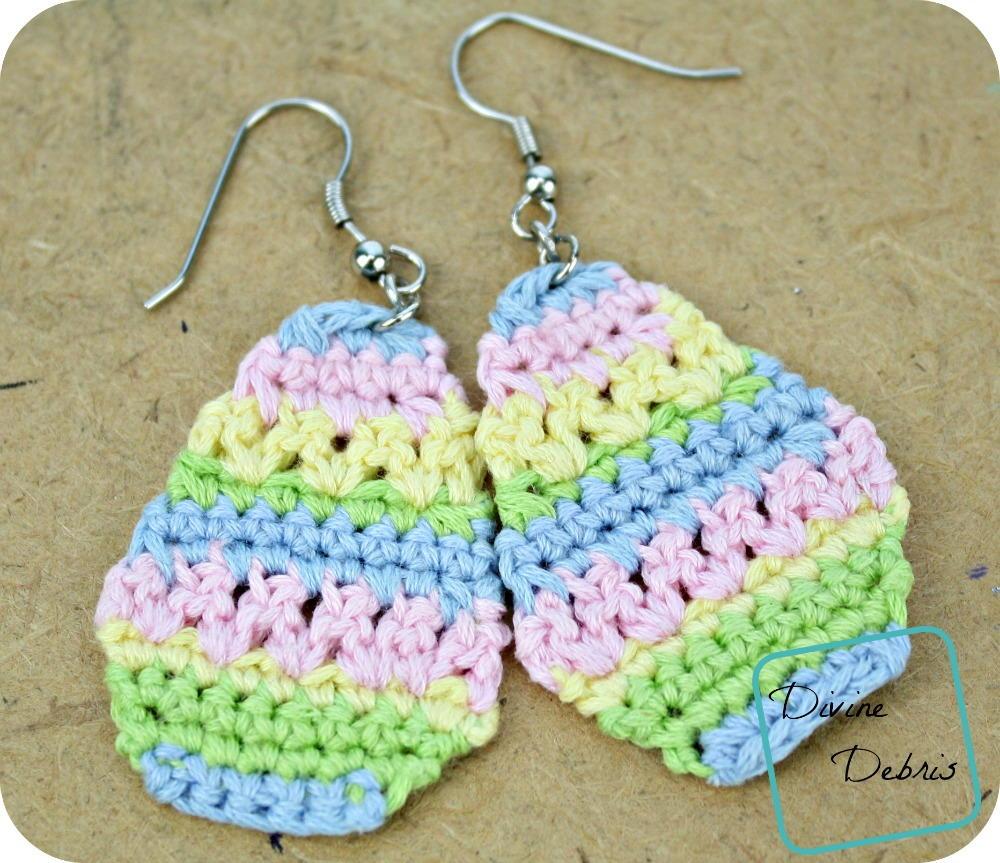 Easter egg crochet earrings allfreecrochet ccuart Gallery