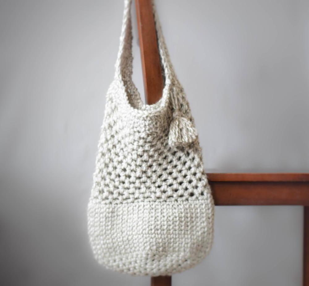 Manhattan Crochet Tote   AllFreeCrochet.com