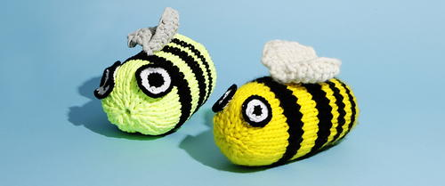 Bee Geez Knitted Bees