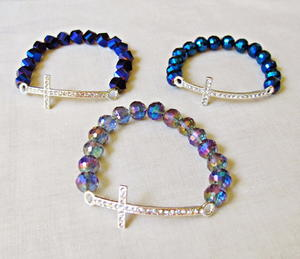 DIY Rhinestone Cross Bracelet