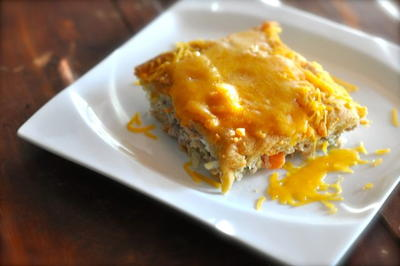 Tuna Stuffed Crescent Roll Casserole