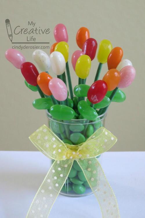 Jellybean Edible Bouquet   FaveCrafts.com