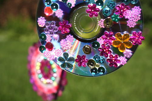 Recycled CD Wind Spinner