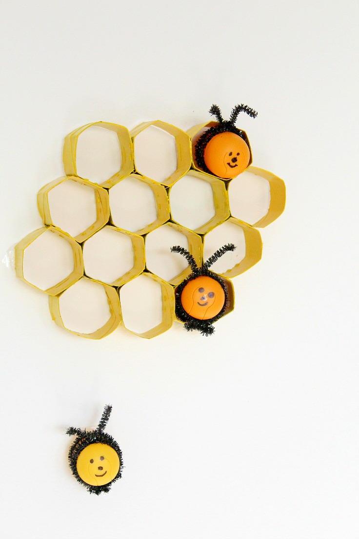 DIY Honeycomb Toilet Paper Roll Craft | AllFreePaperCrafts.com
