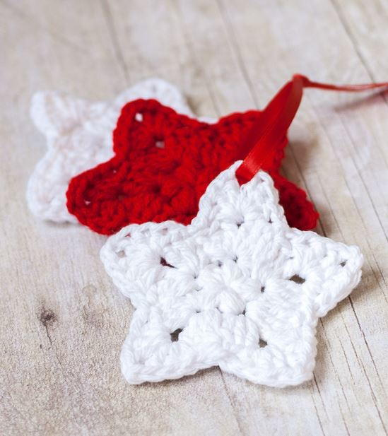 Crocheted Star Homemade Christmas Ornaments Allfreechristmascrafts