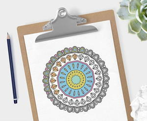 Relaxing Mandala Coloring Pages Favecrafts Com