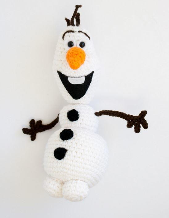 Olaf From Frozen Crochet Pattern Allfreechristmascrafts