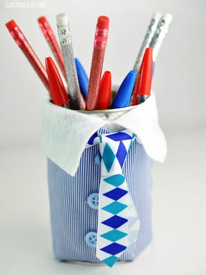 Father's Day Pencil Cup Handmade Gift