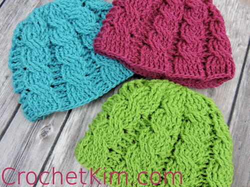 Fine Free Cable Crochet Hat Pattern Ornament Easy Scarf Knitting