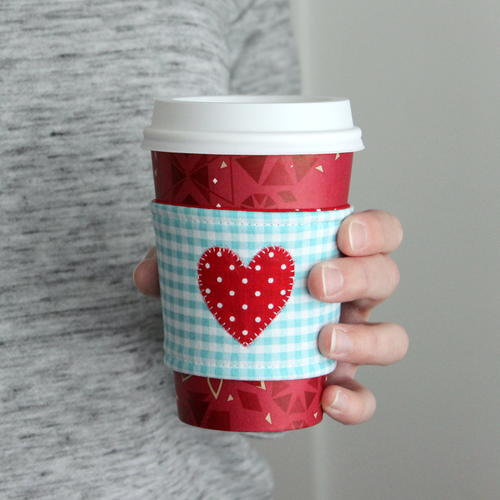 I Heart Coffee Cozy Tutorial with Printable