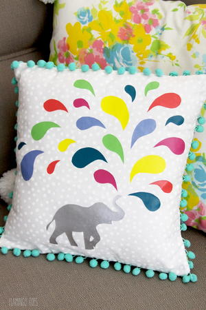 Wild Elephant DIY Pillow