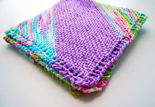 Bias Quick Knit Baby Blanket