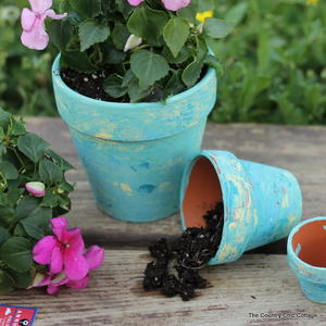 Spring Marbled Flower Pots