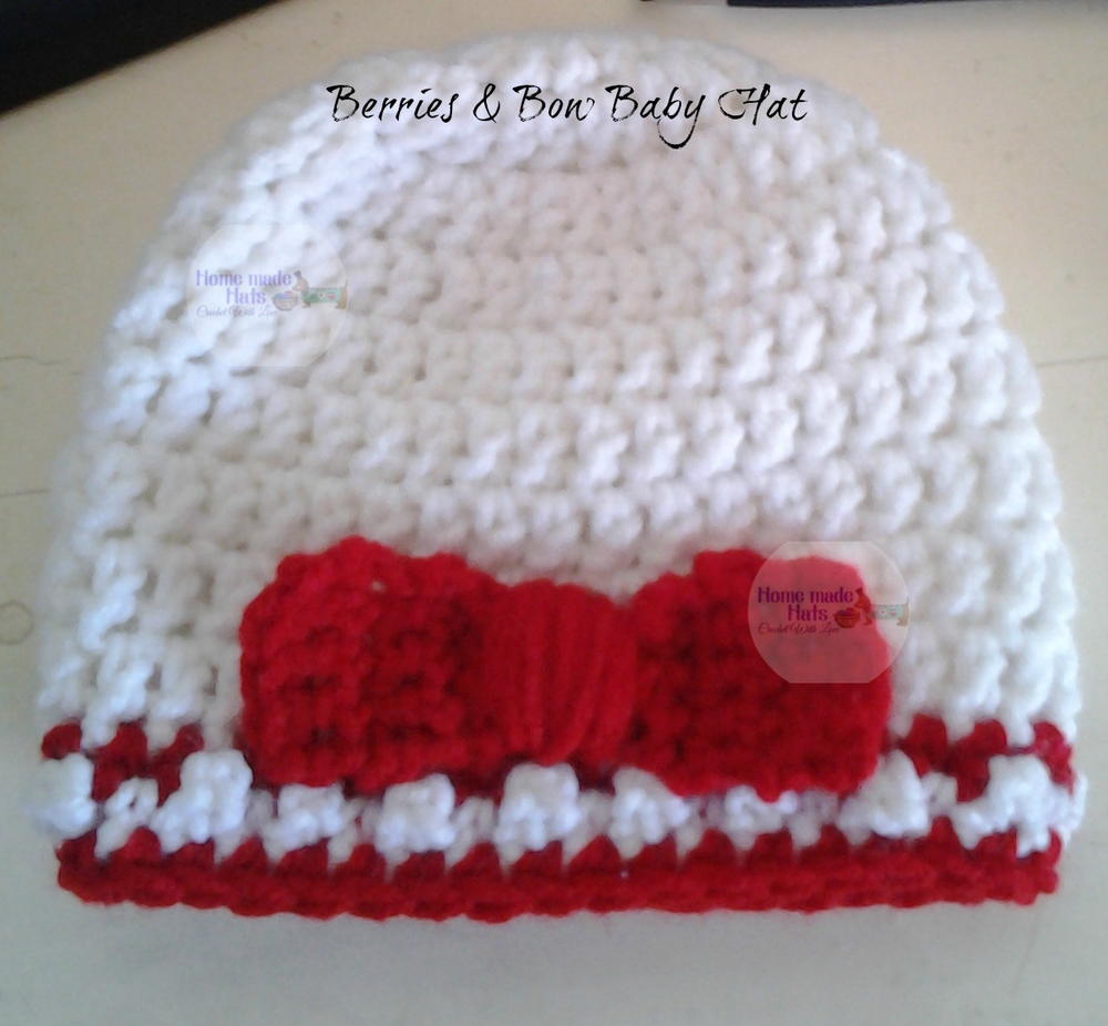 Berries Bow Baby Hat Allfreecrochet