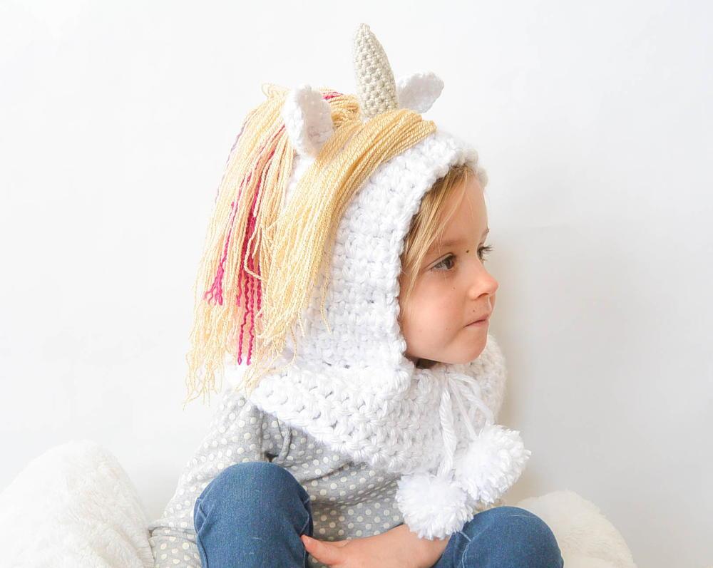 Magical Unicorn Hood   AllFreeCrochet.com