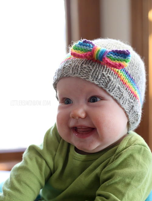 Rainbow Dreams Baby Hat. By  Cassandra May from littleredwindow.com a13ba61968a