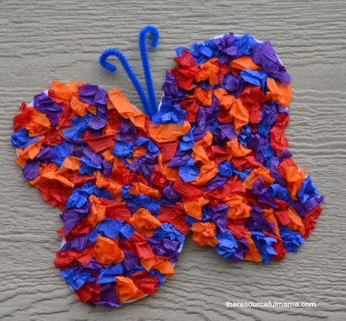 Crepe Paper Butterfly Craft Allfreekidscrafts