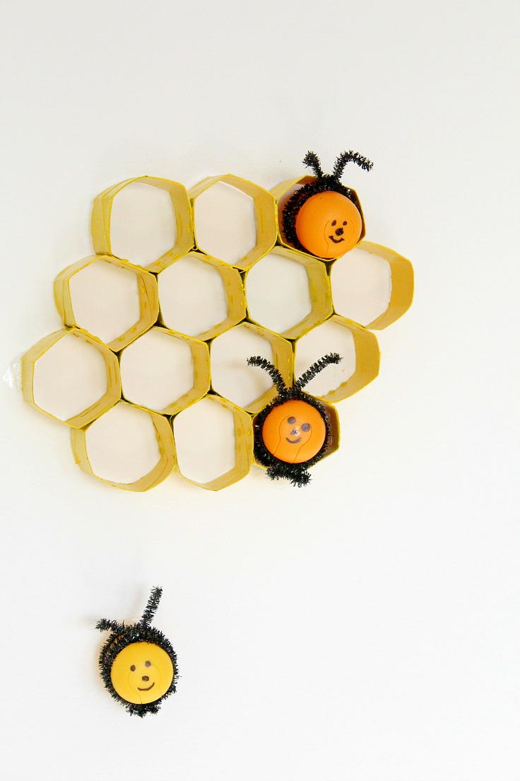 Honeycomb Toilet Paper Roll Crafts | FaveCrafts.com