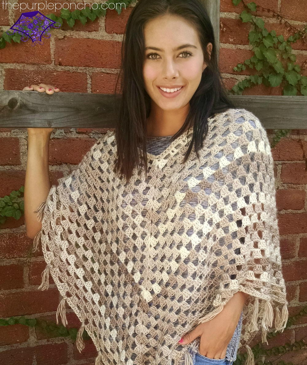 62 crochet poncho patterns allfreecrochet boho poncho crochet pattern bankloansurffo Choice Image
