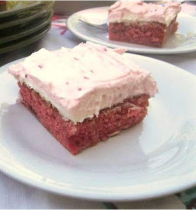 Vintage Strawberry Cake from Scratch