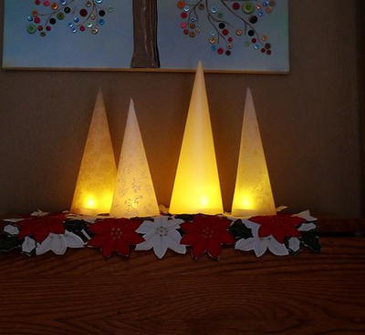Quick and Easy Winter Tree Lanterns