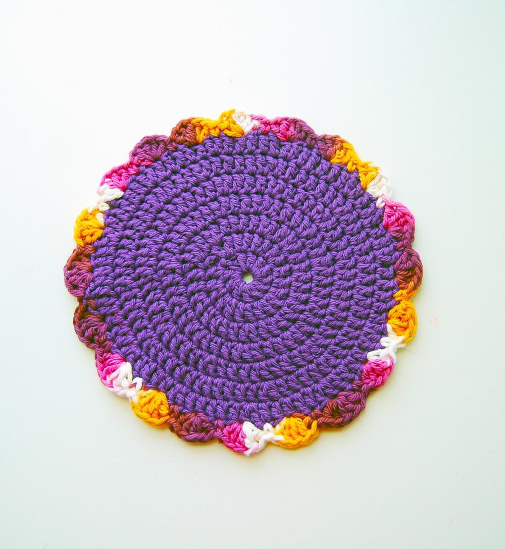 Floral Crochet Dishcloth Pattern   FaveCrafts.com