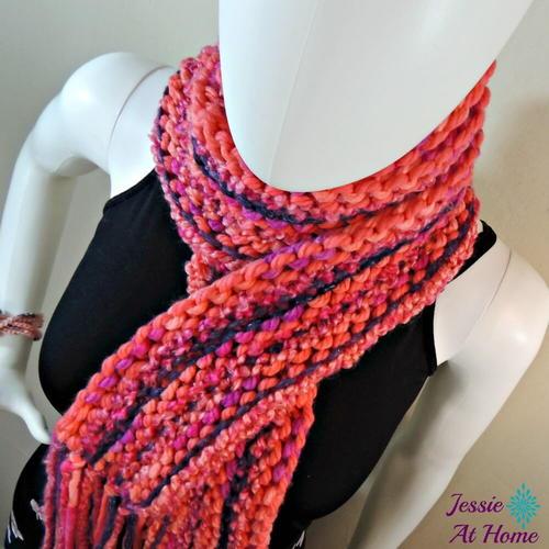 Bold Boho Knitted Scarf Pattern Favecrafts