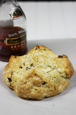 Irish Soda Bread with Brandy-Soaked Raisins