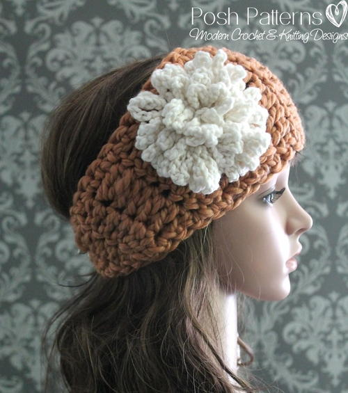 Headband Loopy Flower Crochet Pattern Allfreecrochet