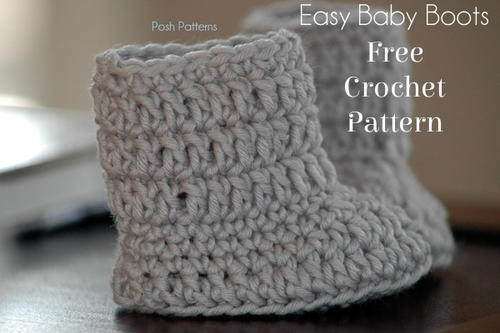 Easy Baby Boots Crochet Pattern Allfreecrochet