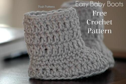 Easy Baby Boots Crochet Pattern | AllFreeCrochet.com