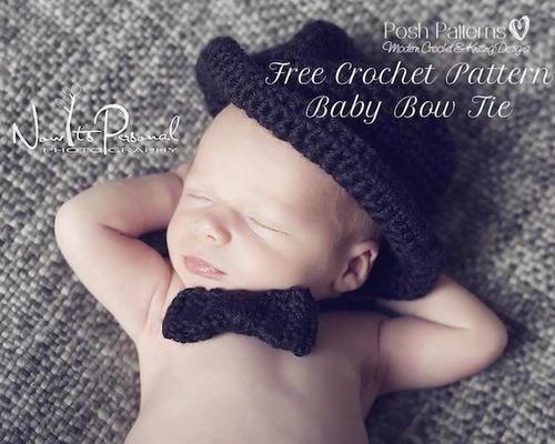 Baby Bow Tie Crochet Pattern Allfreecrochet