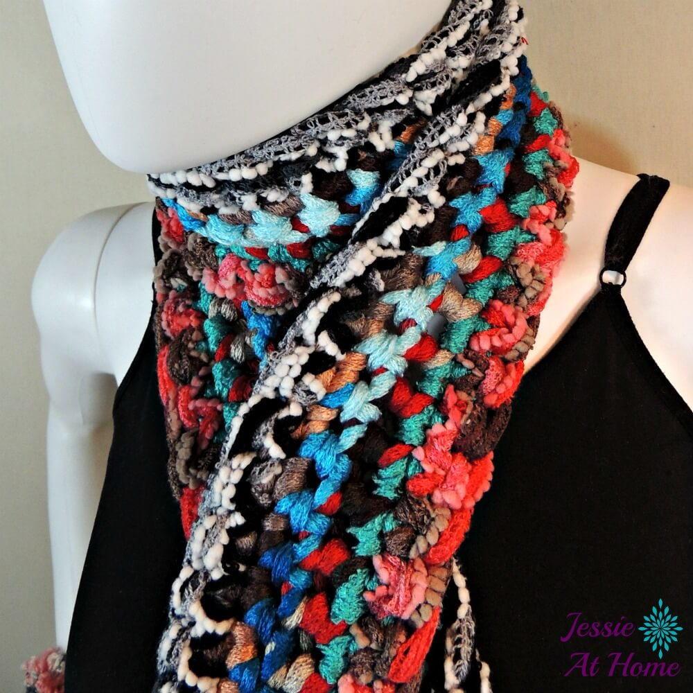 Basic Boho Crochet Scarf   AllFreeCrochet.com