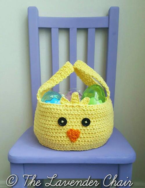 Chickadee Easter Basket Allfreecrochet