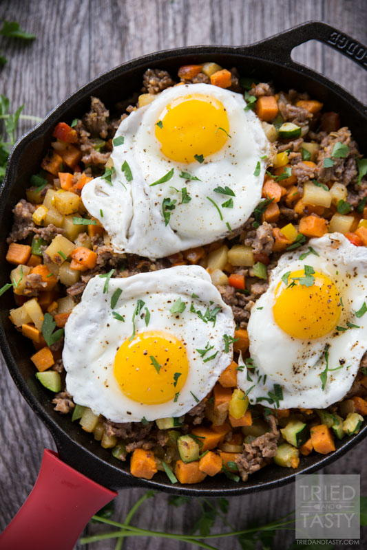 Sweet Potato & Sausage Breakfast Hash
