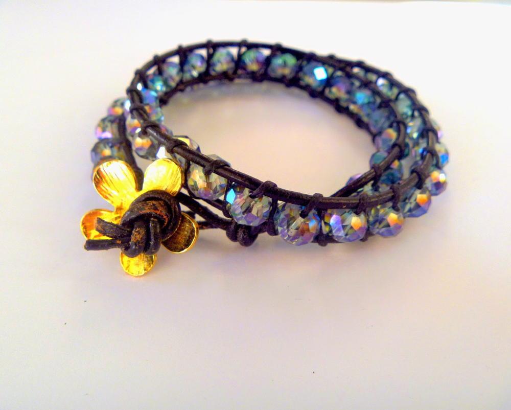 Sparkling Beaded Wrap Bracelet Allfreejewelrymaking Com