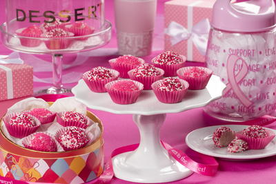 Pink Velvet Truffles