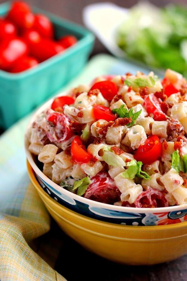 Blt Ranch Pasta Salad Recipelion Com