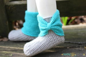 Cute Crochet Slipper Boots