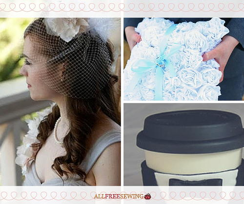 24 DIY Wedding Sewing Tutorials: How to Sew a Wedding Veil, How to Sew a Ring Bearer Pillow, and More