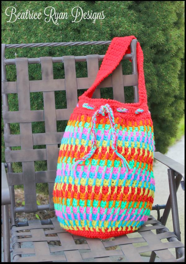 Rainbow Dash Tote Bag AllFreeCrochet.com