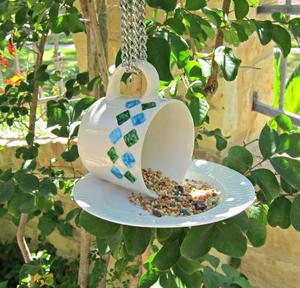 teacup diy bird feeder favecrafts com