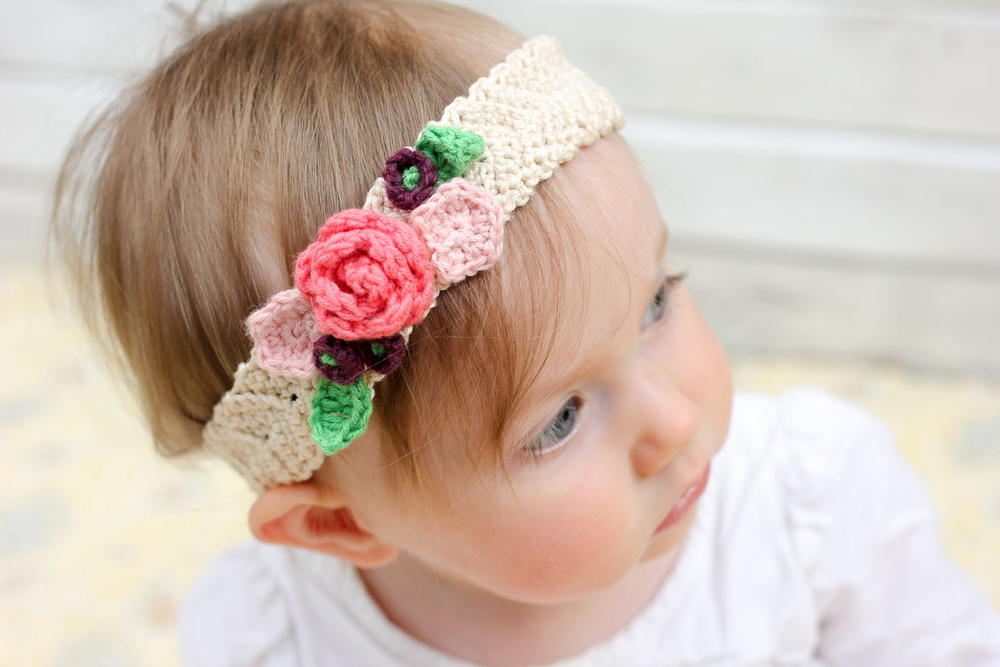 Spring Has Sprung Crochet Flower Headband Allfreecrochet