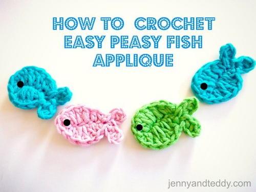 Free Amigurumi Fish Pattern : Crochet fish applique allfreecrochet
