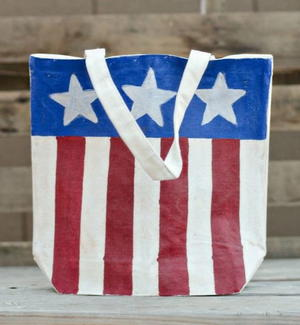 Red, White, and Blue Bag