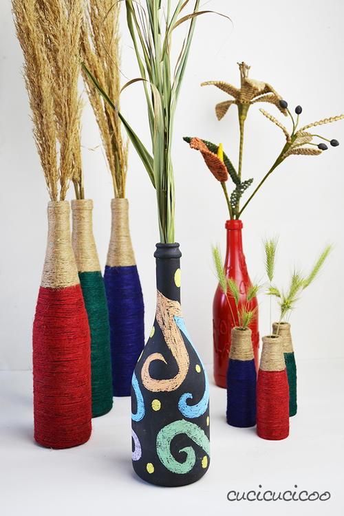 Personalized Recycled Bottle Vases Allfreekidscrafts