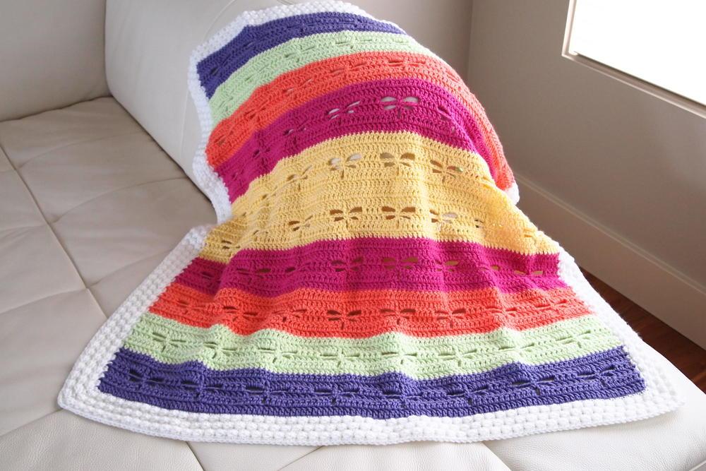 Dragonfly Crochet Blanket Pattern Allfreecrochet