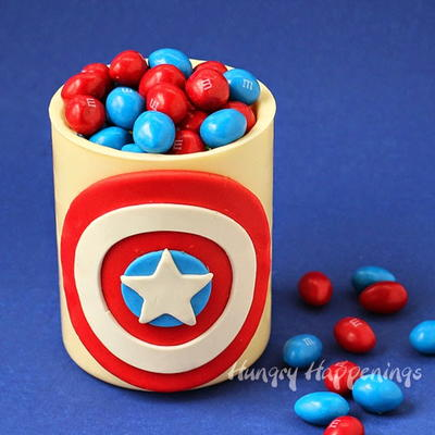 Captain America-Inspired Edible Jar