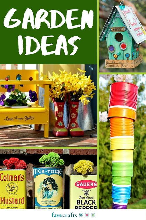 Craft Outside: 84 DIY Garden Ideas | FaveCrafts.com