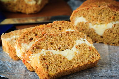 Cream Cheese Filled Carrot Bread